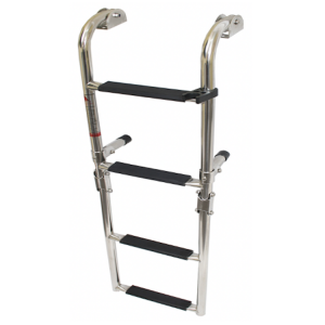 4 step stainless steel boarding ladder