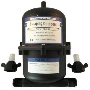 Escaping Outdoors 0.75L accumulator pressure tank for potable water
