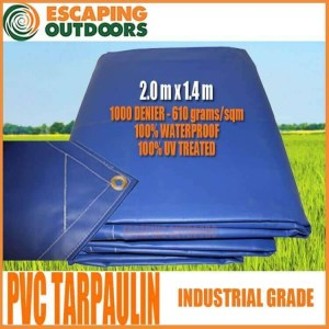 Escaping Outdoors 2.0m x 1.4m pvc tarpaulin