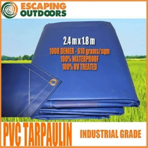 Escaping Outdoors pvc tarpaulin 2.4m x 1.8m tarp