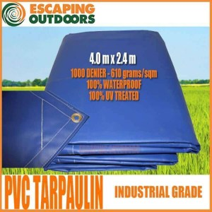 Escaping Outdoors pvc tarpaulin 4.0m x 2.4m tarp