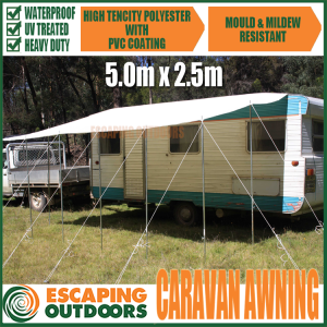Escaping Outdoors waterproof pvc caravan awning 5.0m x 2.5m