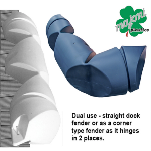 Flexible hinged dock and boat fender Majoni Plastics 1000mm x 190mm