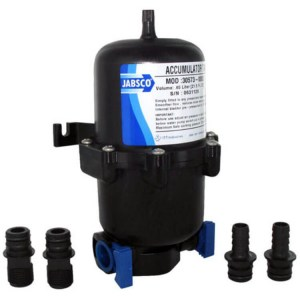 Jabsco accumulator tank pressure tank for 12v and 24v water pumps 0.6 litre - Escaping Outdoors