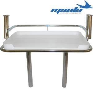 Manta RWB1975 folding 2 rod stainless steel bait board
