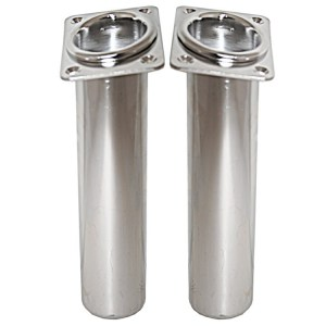 Manta stainless steel pair of port and starboard fishing boat rod holders - Escaping Outdoors