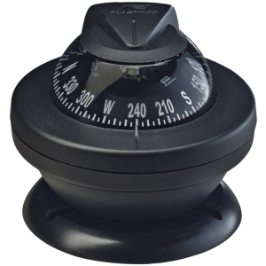 Plastimo boat and marine compass black bracket mount black conical card