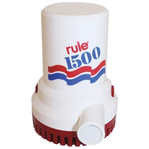 Rule 1500 24v marine grade bilge transfer pump delivering 94 litres per minute