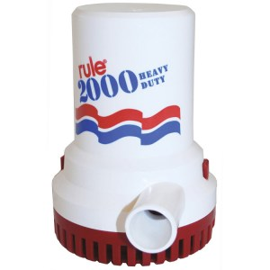 Rule 2000 24v marine grade bilge transfer water pump