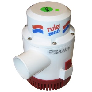 Rule 4000 24v marine grade bilge transfer pump
