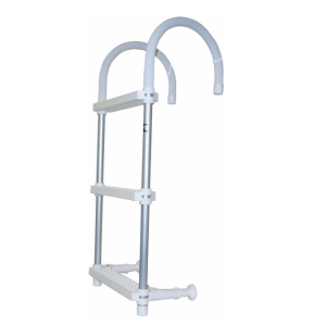 Trem anodised aluminium 3 step boat ladder