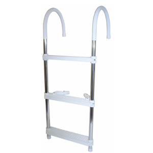 alloy and plastic 3 step boat boarding ladder