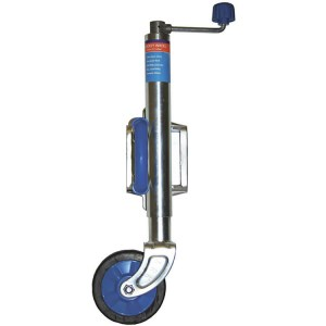 boat trailer and caravan jockey wheel and swivel bolt on weld on clap with 3 wheel size options - Escaping Outdoors
