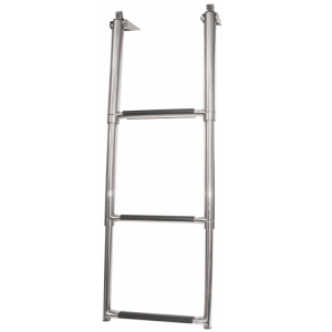 telescopic 3 step stainless steel ladder