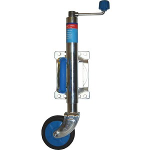 trailer jockey wheel and U bolt fixing swivel clamp 3 wheel sizes in this model - Escaping-Outdoors